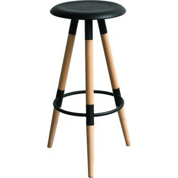 купить Барный стул, сиденье из МДФ, ножки из деревянные, белый в Кишинёве