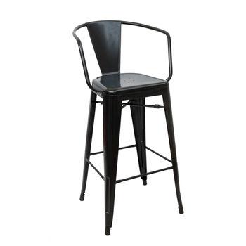 купить Металлический стул 510x530x1040 мм, черный в Кишинёве