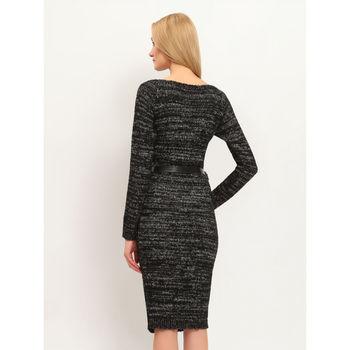 Платье TOP SECRET Черно-серый в клетку SSU1461ST