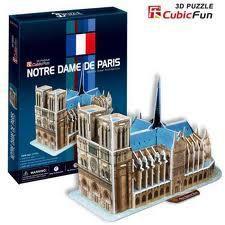 """CubicFun 3D пазл """"Notre Dame de Paris""""   (40 деталей)"""