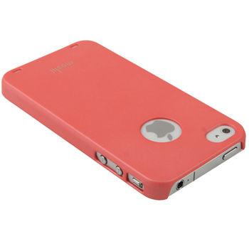 Чехол Moshi Soft-touch + защитная пленка для iPhone 4 / 4S розовый