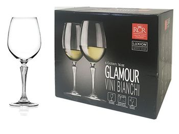Set pocale pentru vin Glamour, 6buc 260ml
