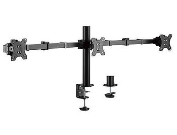 "Brateck LDT33-C036 Triple Monitors Steel Articulating Monitor Arm, for 3 monitors, Clamp-on, 17""-27"", +25"