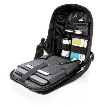 """14"""" Bobby compact anti-theft backpack, Zebra (P705.651)"""