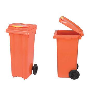 купить Бак мусорный 240 л - на колесах (оранжевый)  UNI в Кишинёве