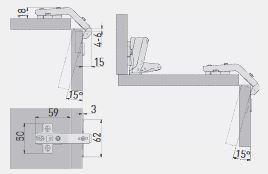 Balama 135° fără amortizor GTV