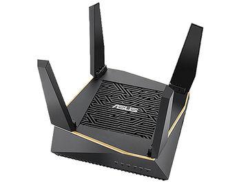 ASUS RT-AX92U AX6100 Tri-Band WiFi 6 (802.11ax) Gaming Router, WiFi 6 802.11ax Mesh System, AX6100 400 Mbps+867 Mbps+4804 Mbps, dual-band 2.4GHz/5GHz-1/5GHz-2 for up to super-fast 6.1Gbps, WAN:1xRJ45 LAN: 4xRJ45 10/100/1000, USB 2.0&USB 3.1