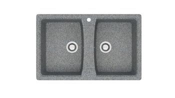 купить Матовые кухонные мойки из литьевого мрамора  (темн.сер.)  F026Q8 в Кишинёве