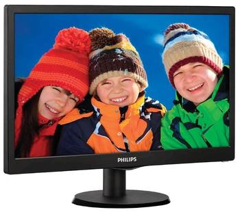 """купить 18.5"""" PHILIPS """"193V5LSB2"""", Black (1366x768, 200cd, 5ms, LED10M:1, D-Sub) в Кишинёве"""