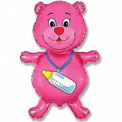купить Медвежонок с бутылочкой - Розовый в Кишинёве