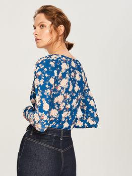 Блуза RESERVED Синий в цветочек