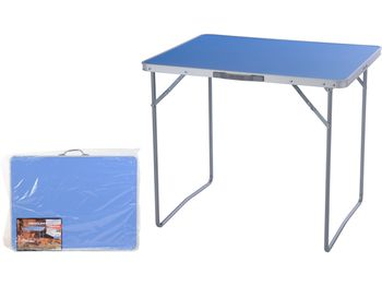 Стол раскладной 80X60X4.5cm, голубой, чемодан