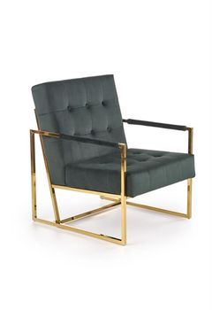 купить PRIUS fotel wypoczynkowy, tapicerka - ciemny zielony, stelaż - złoty в Кишинёве