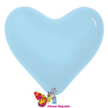 купить Шар в форме Сердца , цвет Голубой- 25 см в Кишинёве