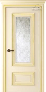 купить Дверь ПАЛАЦЦО 2 слоновая кость патина золото остекленная в Кишинёве