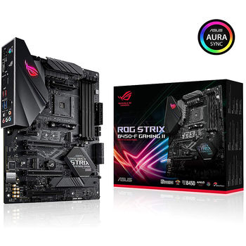 Материнская плата ASUS ROG STRIX B450-F GAMING II AMD B450, AM4, Dual DDR4 4400MHz, 3xPCI-E 3.0/2.0 x16, HDMI/Display Port, AMD 3-Way CrossFireX, USB 3.1, SATA RAID 6Gb/s, M.2 x4 Socket, SB 8-Ch., GigabitLAN, LED lighting (placa de baza/материнская плата)