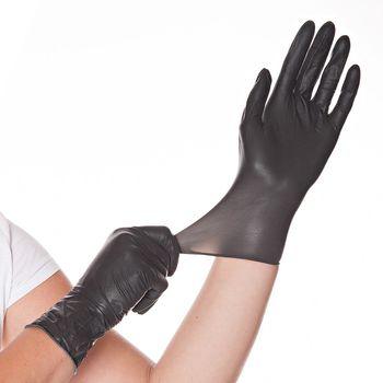 Перчатки LATEX DIABLO, размер S, ЧЕРНЫЕ, 100шт, HYGOSTAR, FM