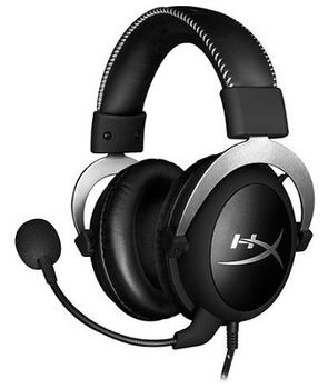 Kingston HyperX Cloud Silver Headset, Silver, Solid aluminium build, Microphone: detachable, Frequency response: 15Hz–25,000 Hz, Cable length:1m+2m extension, 3.5 jack, Pure Hi-Fi capable, Braided cable, Mesh bag