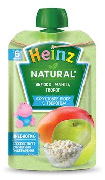 Piure Heinz de mere și mango cu brănzică (6+ luni), 90g