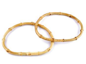Mâner din bambus pentru geantă, 12,5x17,5 / bambus deschis