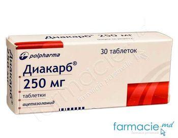 купить Диакарб, табл. 250 мг N30 в Кишинёве