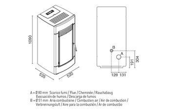 купить Печь пеллетная - LAURA 13 кВт в Кишинёве