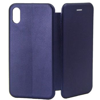 купить Чехол Senno Flip Cover Leather  Iphone X/XS, Dark Blue в Кишинёве