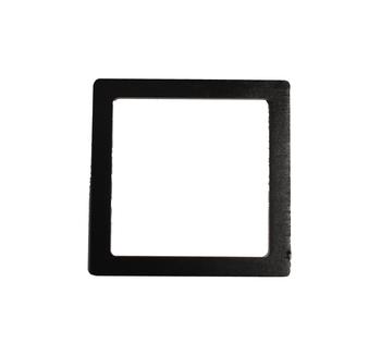 Mâner din lemn, negru / 15x15 cm