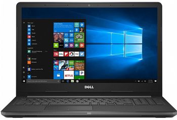 "DELL Inspiron 15 3000 Black (3552), 15.6"" HD+Win10 (Intel® Pentium® Quad Core N3710 2.56GHz (Braswell), 4Gb DDR3 RAM, 500Gb HDD, Intel® HD Graphics 405, DVDRW, CardReader, WiFi - N/BT4.0, 4cell, HD720p Webcam, RUS, Win10 HE64, 2.3 kg)"