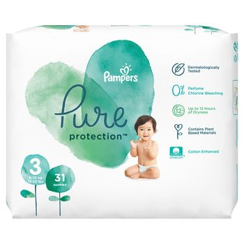 купить Подгузники Pampers Pure Protection 3 (6-10 kg) 31 шт в Кишинёве