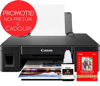 Printer Canon Pixma G1411 + Gift Kit II (GI-490BK + PP-201)