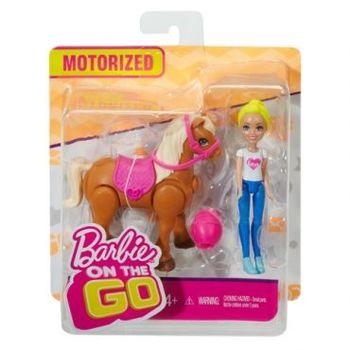 """Игровой набор Барби """"В движении"""" - Мини-кукла и пони, код FHV60"""