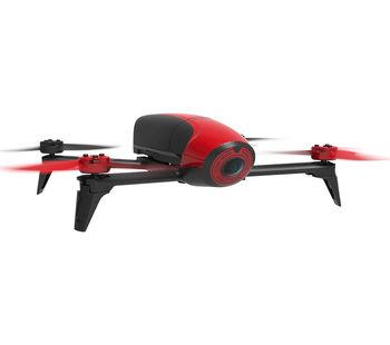 (33698) Parrot Bebop 2 / Red - Drone, 14MP, 1080p Full HD 30fps fish-eye lens camera, Parrot Digital Stabilisation, max. 2000m radius/ 16 mps speed, flight time 25 min, Battery 2700 mAh, 500g
