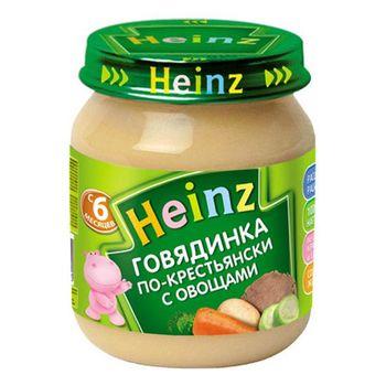 купить Heinz пюре говядина по-крестьянски 6+мес. 120г в Кишинёве