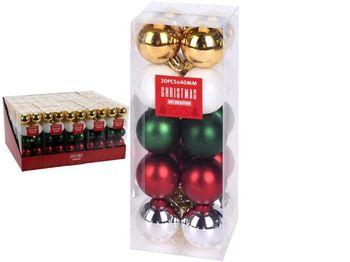 """Набор шаров 20X40mm, """"Jolli"""" в коробке, 3 дизайна"""