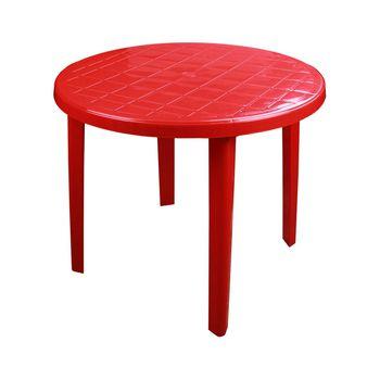 купить Стол круглый пластиковый (900х900х750)(красный) М2665 в Кишинёве