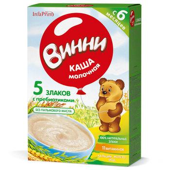 cumpără Vinni Terci Lapte 5 Cereale cu prebiotice 200g în Chișinău