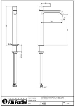 Смеситель для раковины Fratelli Frattini GIOIA 73065