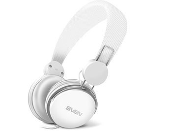 SVEN AP-321M Headphones with microphone, Headset: 20-20,000 Hz, Microphone: 30-16,000 Hz, 1.2m, White