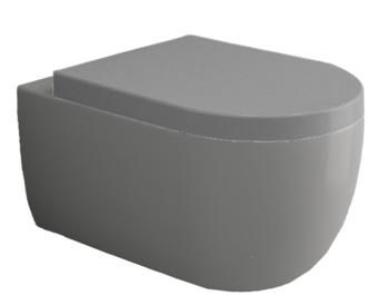 Унитаз подвесной V Tondo WC Серый Мат с крышкой soft close