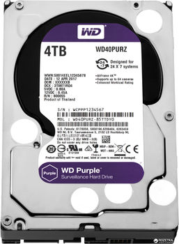"3.5"" HDD 4.0TB  Western Digital WD40PURZ Caviar® Purple™, IntelliPower, 64MB, SATAIII"