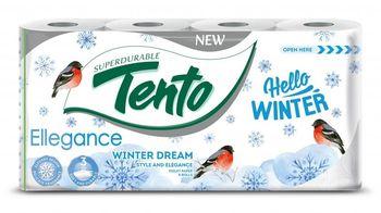 Туалетная бумага TENTO 3 слоя 17м*8 Snowy/Hello Winter