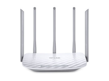 TP-LINK  Archer C60, AC1350 Dual Band Wireless Router, Atheros, 867Mbps at 5Ghz + 450Mbps at 2.4Ghz, 802.11ac/a/b/g/n, 1 WAN + 4 LAN, Wireless On/Off and WPS button, 1xUSB port, 3 x 2.4GHz fixed antennas + 2 x 5GHz antennas