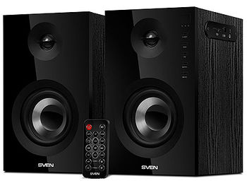 Active Speakers SVEN SPS-721 Black, RMS 50W, 2x25W, Bluetooth, USB port, SD slot, дерево/lemn (boxe sistem acustic/колонки акустическая сиситема)