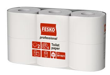 Туалетная бумага Fesko Professional, 6 рулонов, 55 м, (белая).