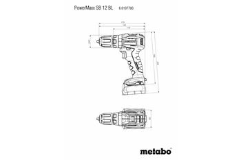 купить Аккумуляторный дрель-шуруповерт Metabo PowerMaxx BS 12 BL2 в Кишинёве