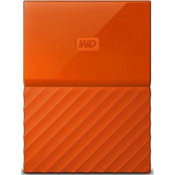 "2.5"" External HDD 2.0TB (USB3.0)  Western Digital ""My Passport"", Orange, Durable design"
