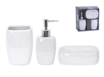 Набор для ванной керамический 3ед MSV белый