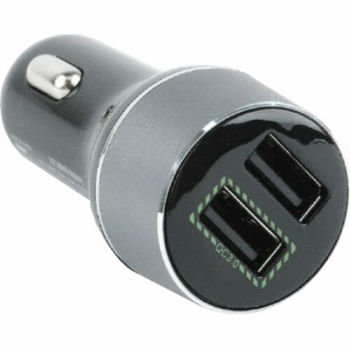 USB Car Charger - Gembird EG-U2QC3-CAR-01, 2x USB2.0 socket, Output current: up to 2.1A, (including iPad, iPhone, iPod) , Black