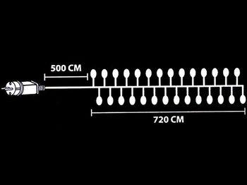 """купить Огни новогодние """"густые"""" 720 микро LED, разноцв, 7.2m, прозр в Кишинёве"""